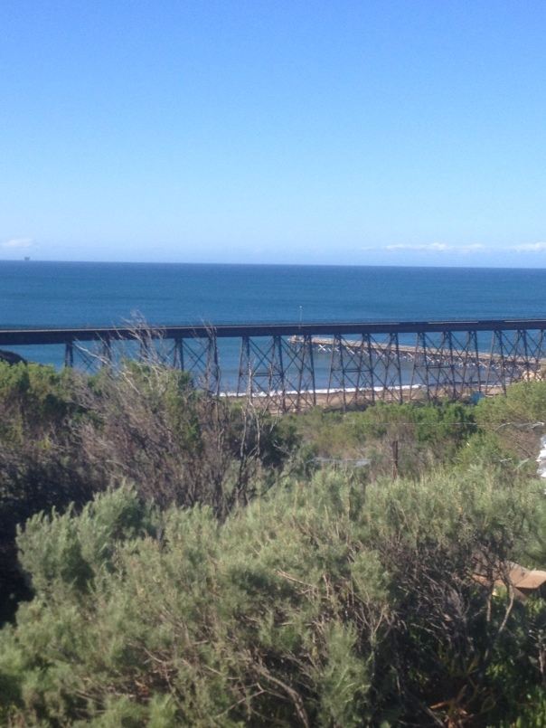 Gaviota train bridge